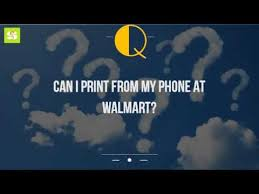 Can I Print From My Phone At Walmart