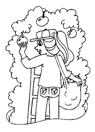 Apple Picking Coloring Pages