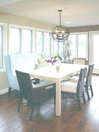 Banquette Set Transitional Dining Room Sets With Wood Table