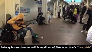 Landslide Smashing Pumpkins Acoustic by Subway Busker Does Incredible Rendition Of Fleetwood Mac U0027s