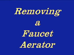 Delta Faucet Aerator Removal by Removing Faucet Aerator Youtube