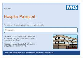 Hospital Passport Template Word