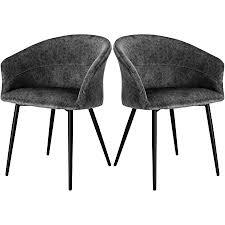 elightry esszimmerstuhl küchenstuhl samt stuhl sessel mit armlehnen metallbeinen 2er set esszimmerstühle für esszimmer wohnzimmer grau