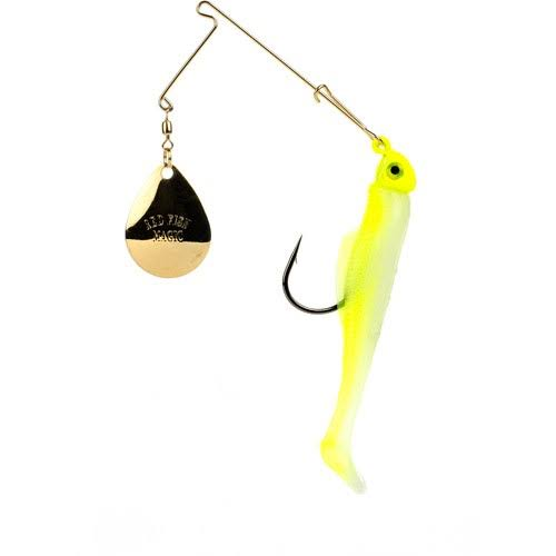 Strike King Redfish Magic Soft Bait - Chartreuse Glow / Chartreuse Head