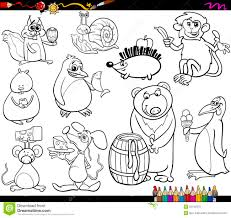 Royalty Free Vector Download Animals And Food Coloring Page