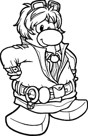 Agent Dot Club Penguin Coloring Page