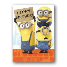 Happy Birthday Sign Minions Card Funny Picture to share nº