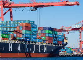 100 Shipping Containers California Hanjin Ship Cant Dock Because It Has No Plan To Leave