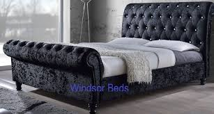 Velvet Headboard King Size by Details About 3ft 4ft6 5ft 6ft Astral Crush Velvet Fabric