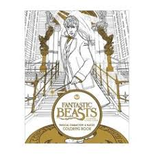Fantastic Beasts And Where To Find Them Magical Characters Places Coloring Book Paperback