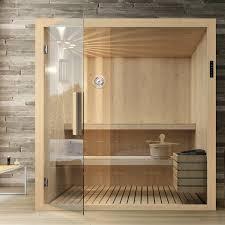 sauna kyra mit glasfront 192 x 192 x 204 cm tanne mit