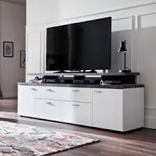 details zu tv board mood lowboard unterschrank kommode wohnzimmer in weiß und grau