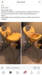 High Chair Graco In Gloucester For £40.00 For Sale - Shpock Graco High Chair In Spherds Bush Ldon Gumtree Ingenuity Trio 3in1 High Chair Avondale Ptradestorecom Baby With Washable Food Tray As Good New Qatar Best 2019 For Sale Reviews Comparison Amazoncom Hoomall Safe Fast Table Load Design Fold Swift Lx Highchair Basin Cocoon Slate Oribel Chicco Caddy Hookon Red Costway 3 1 Convertible Seat 12 Best Highchairs The Ipdent 15 Chairs