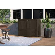 Plastic Storage Sheds Walmart by Furniture Attractive Suncast Deck Box For Outdoor Storage