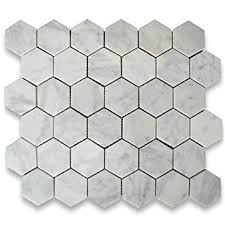 carrara white italian carrera marble hexagon mosaic tile 2 inch