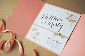 Rustic Floral Wedding Save The Date By Itsy Belle