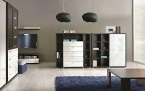 details zu wohnzimmer möbel set led glasvitrine tv schrank 16 fächer raumteiler couchtisch