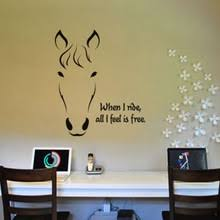 Horse Head Wall Art Stickers Decals Vinyl Decor Home Mural RoomChina
