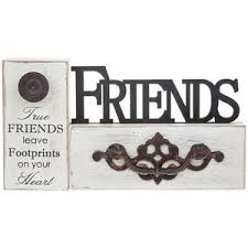 Image Is Loading Friends Rustic Style Word Table Wooden Plaque Sign