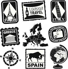 Spain Travel Sticker Or Luggage Label Clip Art Vector Images Illustrations
