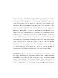 Modelo De La Carta Poder 06 Modelo Carta Poder Notarial Djdareve Com