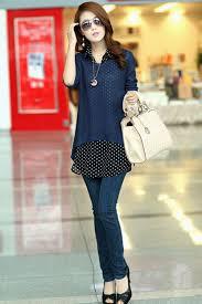 unomatch women polka dot shirt with knitted top blouse u2013 unomatch shop