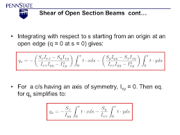 AERSP 301 Shear of beams Open Cross section ppt video online