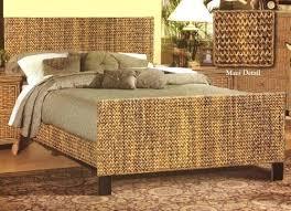 Wicker Bedroom Set Wonderful Black Furniture Page 4 Rattan Bamboo Bed