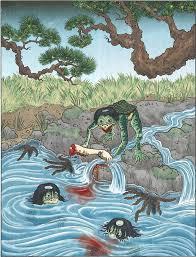 bureau d 馗olier ancien en bois 1 place a kappa is a japanese water the kappa has a beak webbed