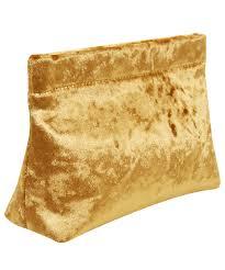 acne studios gold oxide velvet clutch bag in metallic lyst