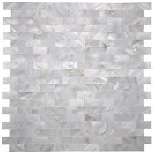 Groutless Subway Tile Backsplash by A18211 6 Pack White Mop Shell Mosaic Tile For Kitchen