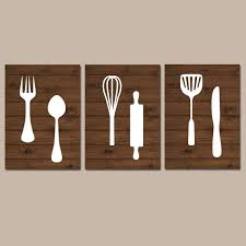 Wooden Fork Spoon Knife Wall Decor by Kitchen Wall Art Canvas Or Print Kitchen Utensils Artwork