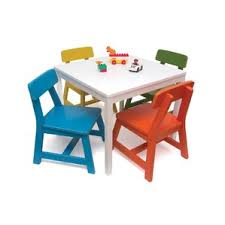 yellow kids table chair sets you ll love wayfair