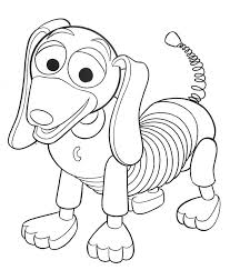Toy Story Coloring Pages Slinky Dog Kids