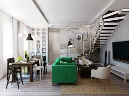 Sharp Lines With Lots Of Dark And Neutral Woods Colours Against The Bright Green Stockholm