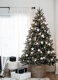 Rustic Modern Christmas Decor Via The White Company View In Gallery Rich Tree With Minimum Decorations
