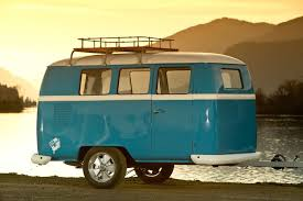 A Dinky Dub Camper Trailer By Lake