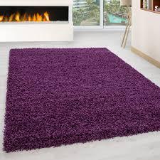langflor hochflor wohnzimmer shaggy teppich florhöhe 3cm unifarbe lila