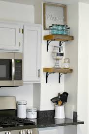 DIY Reclaimed Wood Kitchen Shelves Made From Scraps Add Character And Texture To A Modern