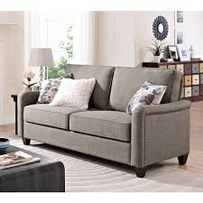 Living Room Furniture Walmart by Better Homes And Gardens Grayson Sofa With Nailheads Grey