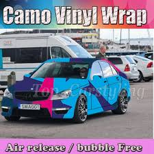 100 Pink Camo Trucks Skye Blue Purple Decal Wrap Vinyl Truck Print