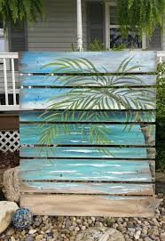 DIY Beach Art Pallet Tropical Easy Painting