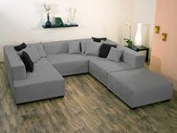 canape d angle alcantara canapé d angle tissu u mat xl 9 10 places gris 25925 27170