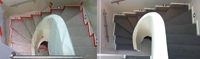 béton ciré hautes performances pour escaliers rénovation sur