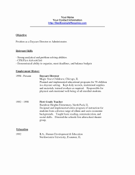 Daycare Resume Sample Adorable Child Care Examples Lovely