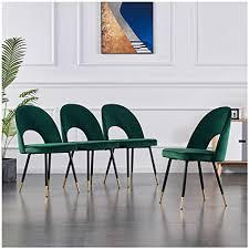 4er set samt esszimmerstühle küchenstühle wohnzimmerstühl weich kissen sitz und rücken mit gold metallbeinen küche stühle für restaurant und