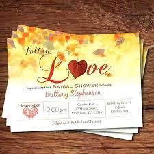 Fall Leaves Wedding Invitations Bridal Shower Invitation In Love Rustic Autumn