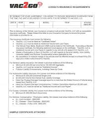 100 Commercial Truck Lease Agreement Summary Of General Rental Requirements