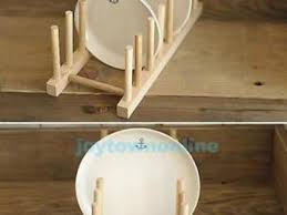 11039039 Wood Kitchen Dinner Plates Dish Holder Stand Rack DIY