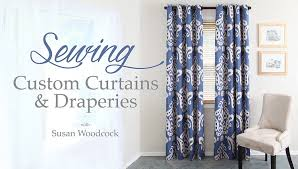 Making Curtains For Traverse Rods by Amazon Com Sewing Custom Curtains U0026 Draperies Susan Woodcock